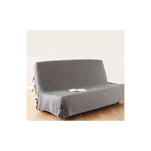 HOUSSE DE CANAPE Housse de clic clac 140x200 cm gris clair 100% cot
