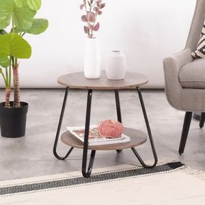 TABLE BASSE Ronde Table Basse Table D'appoint Table à Thé Plat