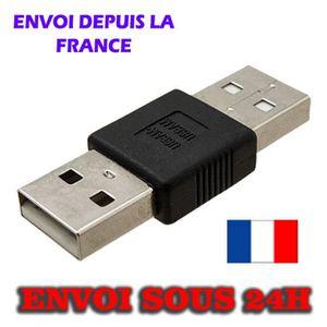 CÂBLE INFORMATIQUE Adaptateur USB A Male vers USB Male  A