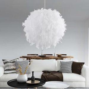 LUSTRE ET SUSPENSION UNI 30cm Lampe de Plume Balle Luminaire Lustre Sty