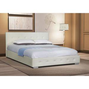 structure de lit achat vente structure de lit pas cher cdiscount. Black Bedroom Furniture Sets. Home Design Ideas