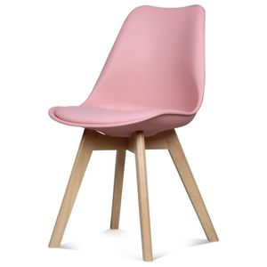 chaise chaise design scandinave rose scandy - Chaise Scandinave Rose