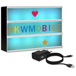 OBJETS LUMINEUX DÉCO  kwmobile Boîte lumineuse LED A6 avec changement de