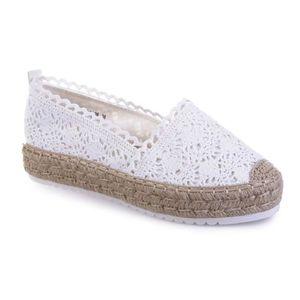 ESPADRILLE Espadrilles blanches à détail crochet-36
