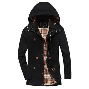 MANTEAU - CABAN Hommes Veste Hiver chaud Pardessus Outwear Slim lo ... ad9675489c0