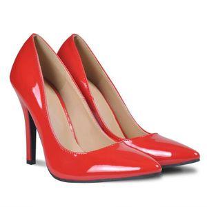 ESCARPIN Chaussures à talons hauts rouges pour femme taille