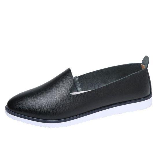 Cuir Confortables Femmes En Sandales Loisirs Mode Lazy Flats On Chaussures 8605 Slip y7gfvY6b