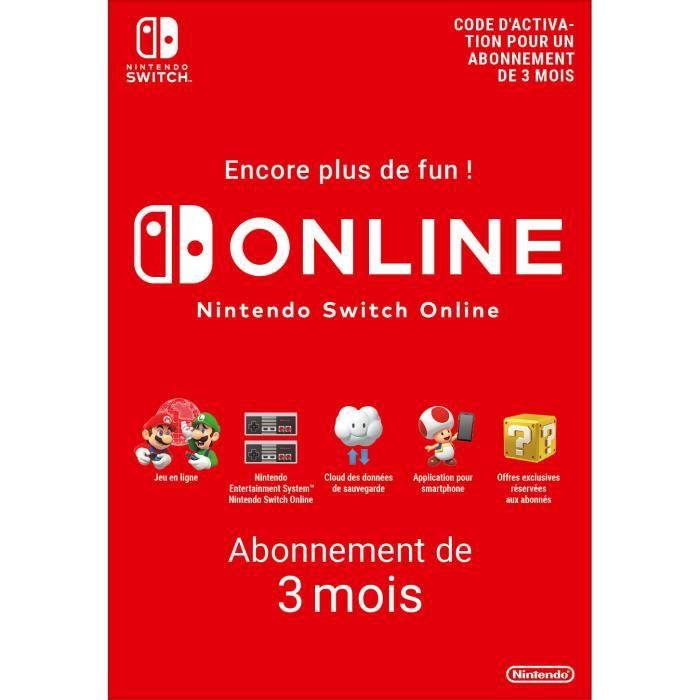 Abonnement Individuel de 3 mois au service Nintendo Switch Online - Code de Téléchargement pour Nint