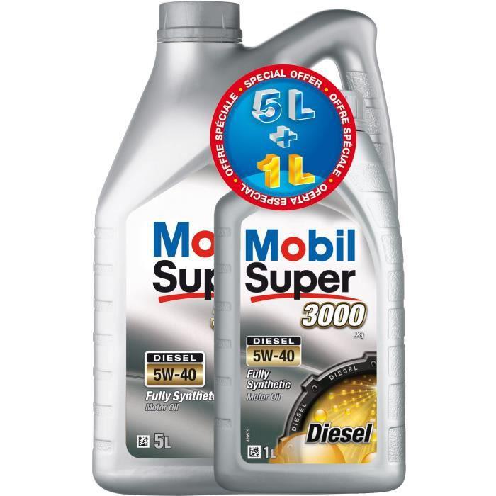 Huile MOBIL S3000 5W40 5+1L Diesel gratuit