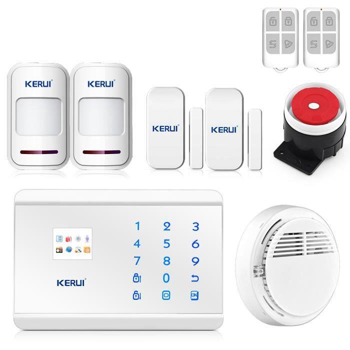 Kerui 8218g alarme maison sans fil gsm rtc contr le app - Alarme fenetre sans fil ...