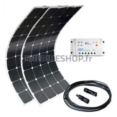 kit solaire 200w 12v souple flexible pour bateau camping car super flex achat vente kit. Black Bedroom Furniture Sets. Home Design Ideas