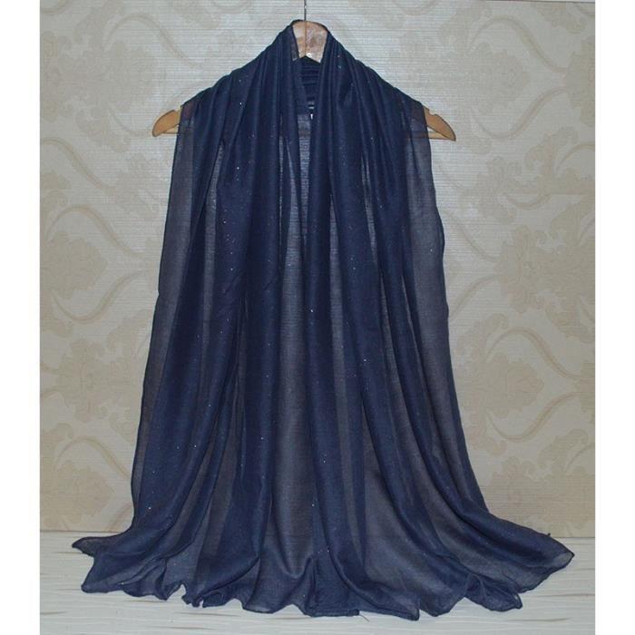 foulard ch che echarpe etole couleur bleu nuit avec. Black Bedroom Furniture Sets. Home Design Ideas
