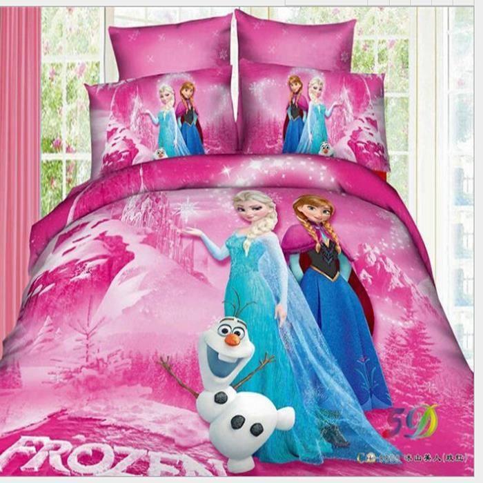 Parure De Lit Frozen Housse De Couette Et Roses Rouges 3d Couvre