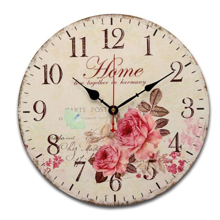 Horloge murale vintage cuisine achat vente horloge murale vintage cuisine pas cher soldes for Horloge de cuisine pas cher