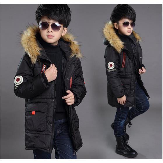 enfant fille gar on veste manteau parka doudoune blouson hiver chaud manche long jacket hoodie. Black Bedroom Furniture Sets. Home Design Ideas