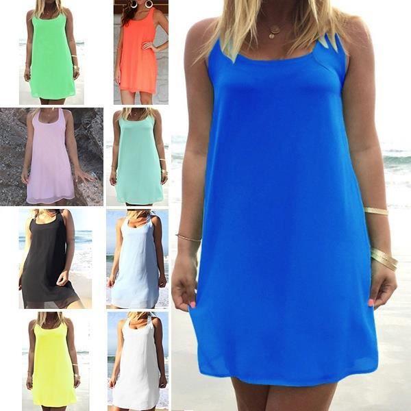 72992a24Light blueSummer Party Dresses 9 couleurs Plus Taille XL wnuanC - 170124188C 84 Fashion A ligne Mini occasionnels