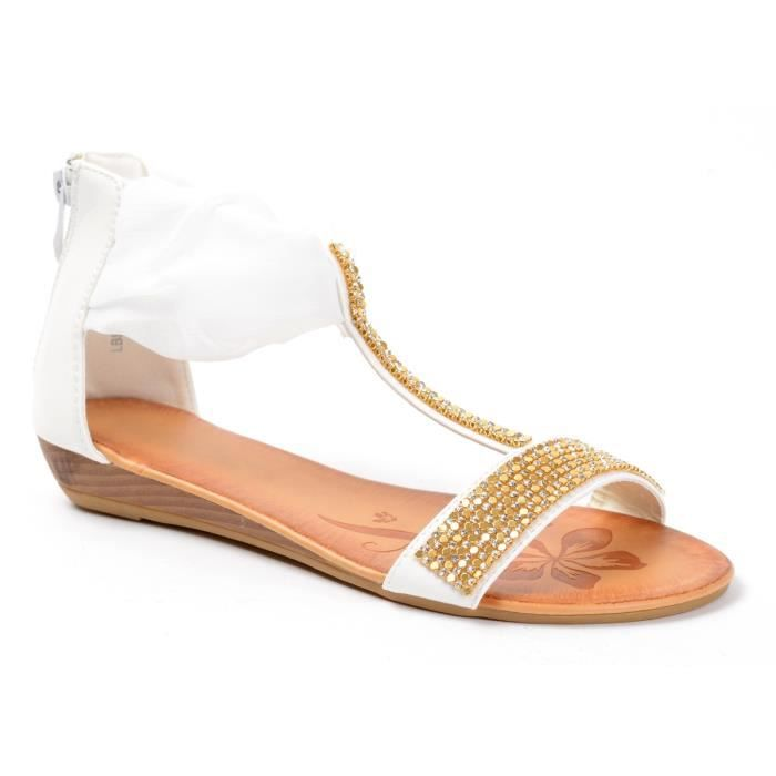 Sandales compensées à str