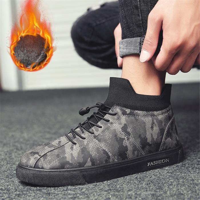 Sneaker Homme Extravagant Chaussure Couleur Unie Plus De Cachemire LéGer Chaussure Qualité Supérieure Classique Loisirs 39-44 1WVUCx