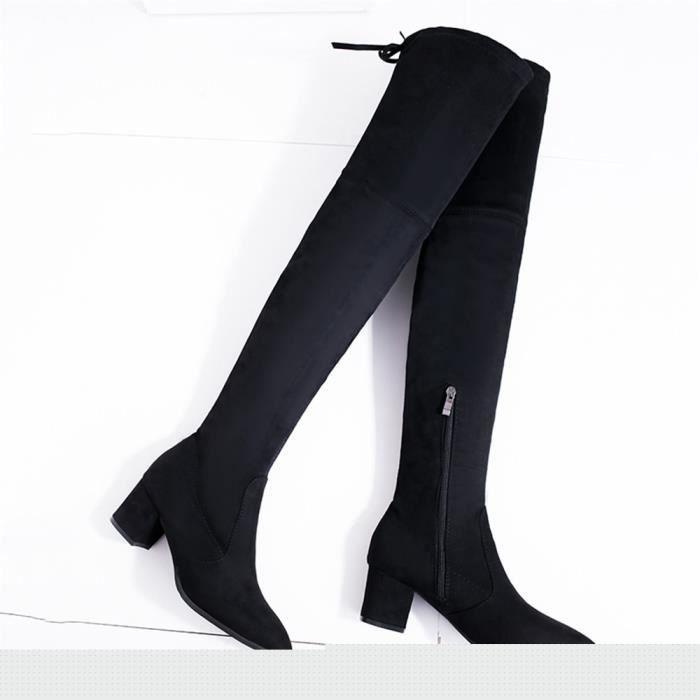 new style dea20 ce166 Bottes Femmes Cool Qualité SupéRieure Chaussures 2018 Classique Marque De  Luxe Longue Chaussures 36-40