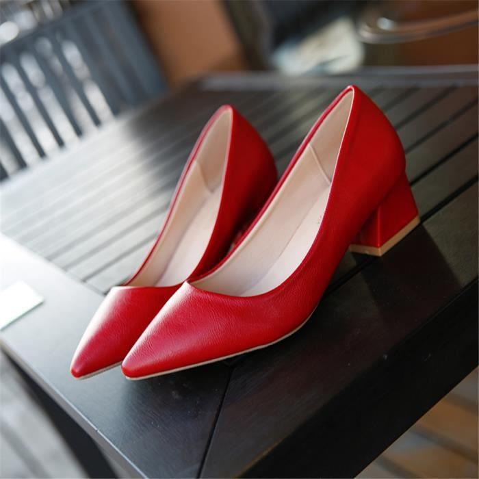 beige Femmes Chaussure Escarpins Nouvelle Haut rouge Elégant Mode Respirant noir Marron Qualité 7qO7fwR