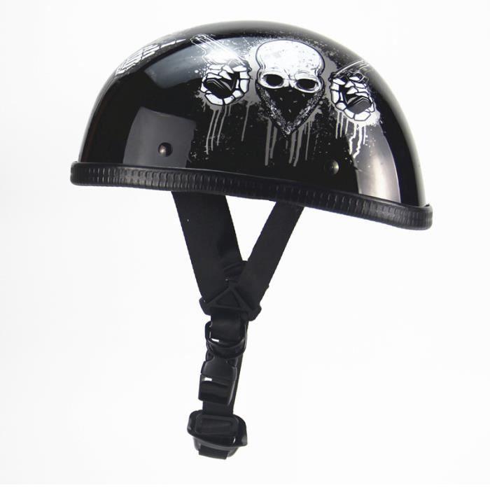 CASQUE MOTO SCOOTER casque moto De la personnalité Casque Harley Casqu