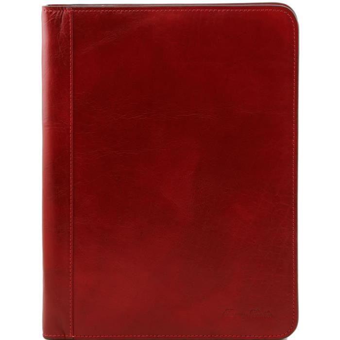 Lucio - porte-document en cuir avec anneaux - Rouge Tuscany Leather 7PJYMgP