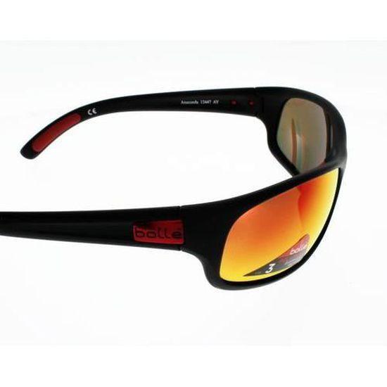 BOLLE ANACONDA NOIR MAT ROUGE Polarisé Homme Indice 3 - Achat   Vente  lunettes de soleil Adulte - Cdiscount 2c4151f6cb87