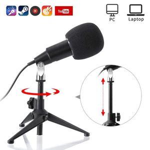 HAUT-PARLEUR - MICRO Hizek Microphone USB, Microphone à Condensateur Pl