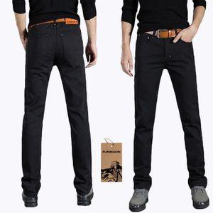 JEANS @FUNMOON Jeans Hommes Mode Casual Jeunes Pantalon