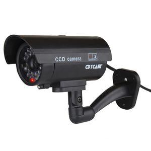 CAMÉRA FACTICE 2 Caméra Surveillance LED Rouge Étanche Factice Fa