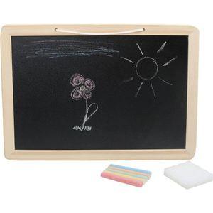 ARDOISE ENFANT Tableau Ardoise bois avec craies de couleur