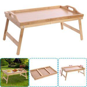 TABLE DE CUISINE  (2PCS) - NEUF Table pliante portable Bambou avec p