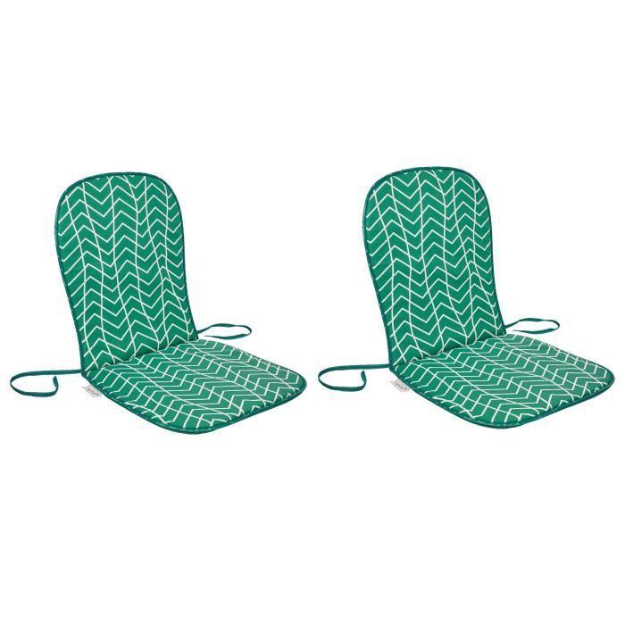 Dimensions : 80x40 cm - Coloris : imprimé vert - Enveloppe : 50% coton et 50% polyesterCOUSSIN D'EXTERIEUR - COUSSIN DE BAIN DE SOLEIL - COUSSIN DE CHAISE DE JARDIN