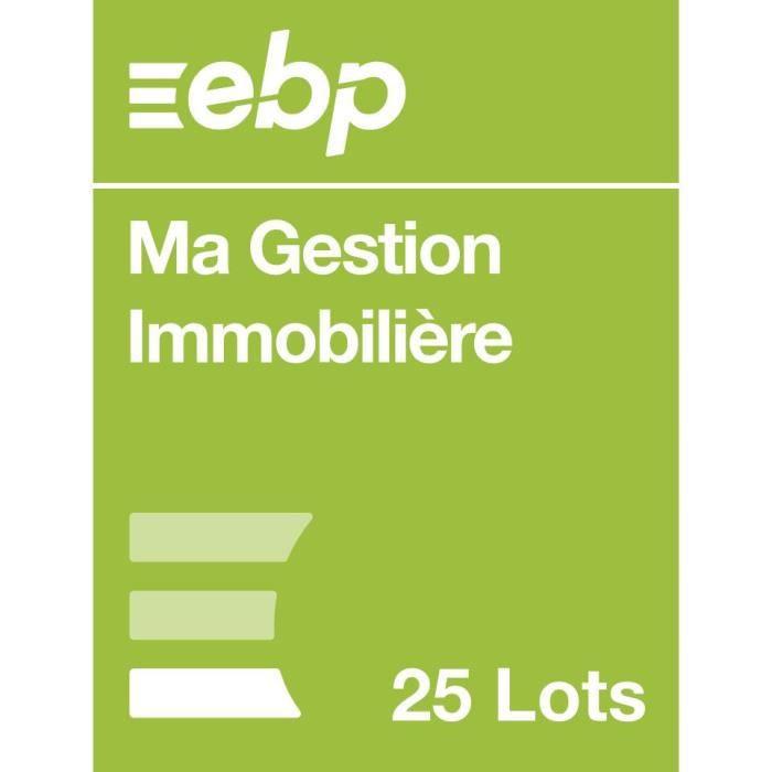 EBP Ma Gestion Immobilière version 25 Lots - Dernière version - Ntés Légales incluses