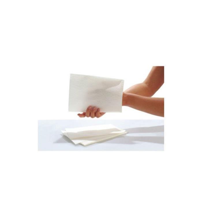 Gants de toilette SENI Care - Avec film pour le nettoyage et les soins - Lots de 50