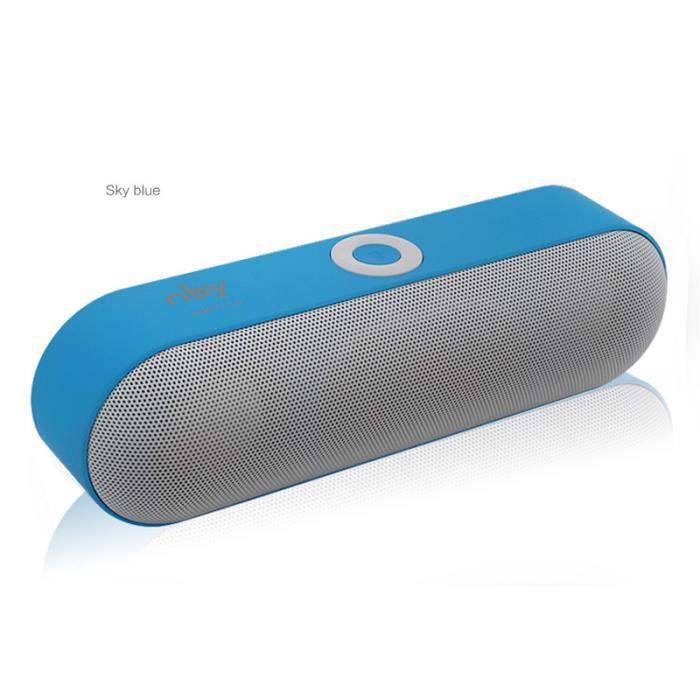 Nby-18 Mini Haut-parleur Portable Sans Fil Système Audio 3d Musique Stéréo Soutenir Bluetooth, Tf Aux Usb Bleu