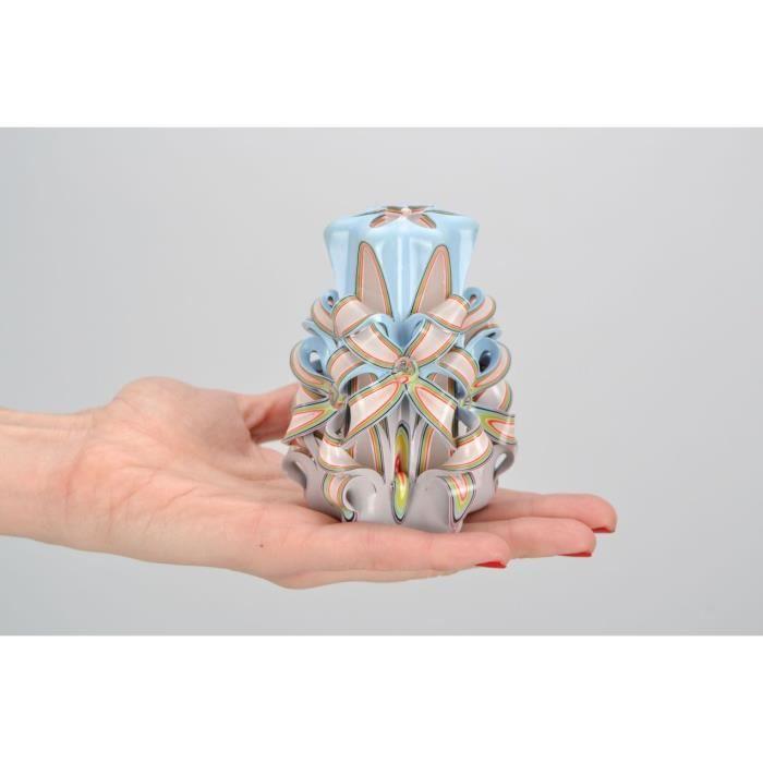 Bougie Decorative Sculptee Multicolore Artisanale 5635876 Achat
