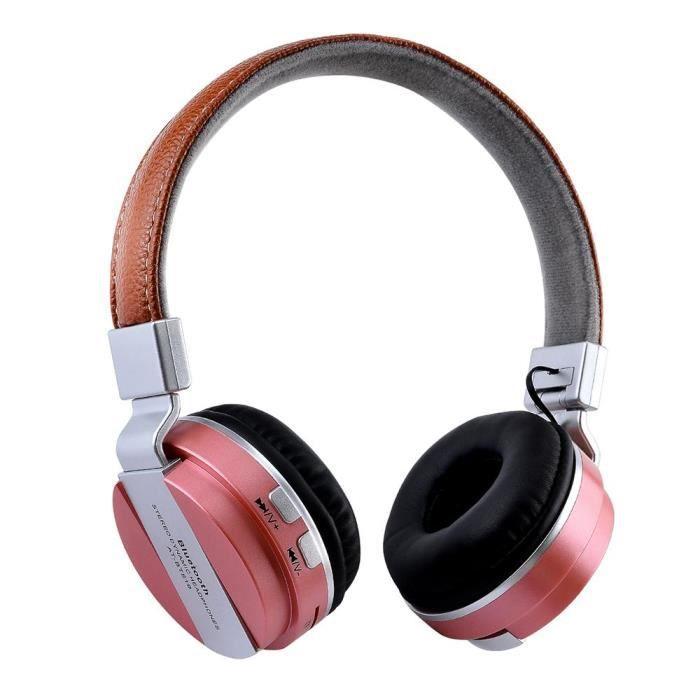 Casque Bluetooth Stéréo Sans Fil,or Rose,en Matériel De Abs Composants Éléctroniques