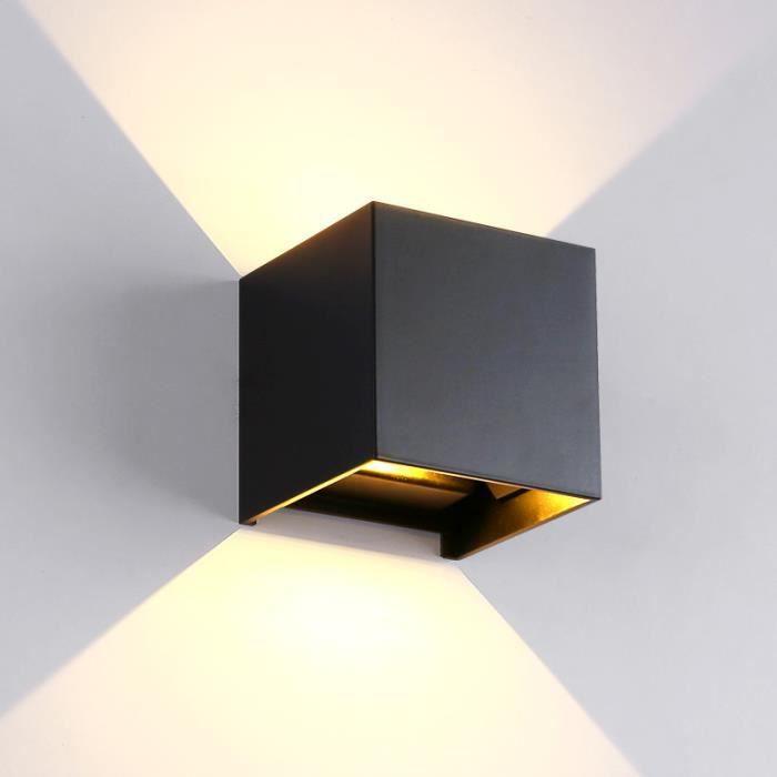 Pour Moderne Éclairage Chambre Cuisine Interieur Etanche Murale 6w De Lampe Escalier Applique Exterieure Mur Mural Noir Led LzqpUMVSG