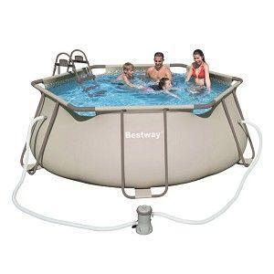 Bestway piscine hexagoanle m achat vente piscine for Piscine bestway