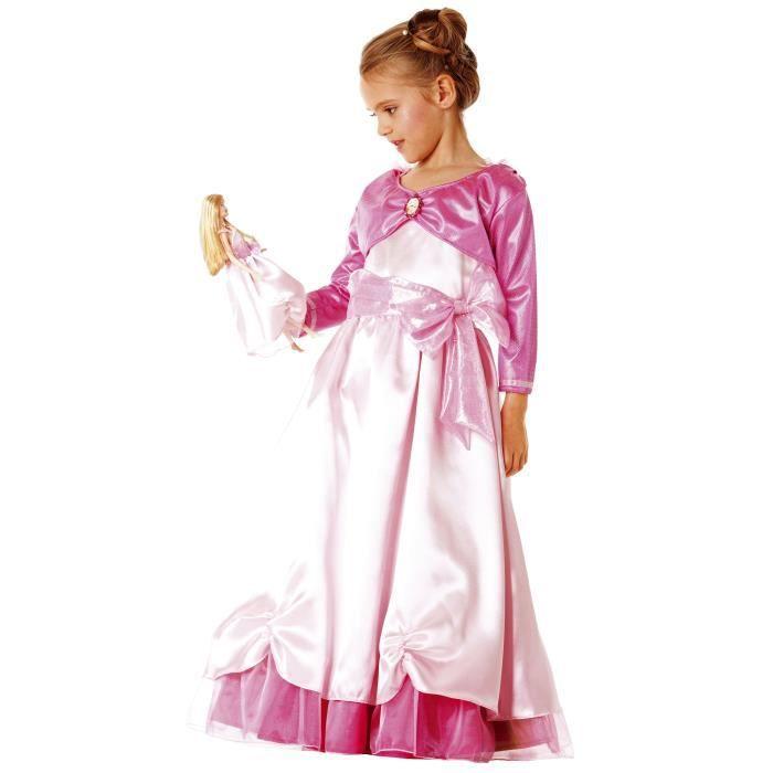 d guisement enfant robe princesse rose barbie et v tement poup e assorti filles 3 5 ans id e. Black Bedroom Furniture Sets. Home Design Ideas
