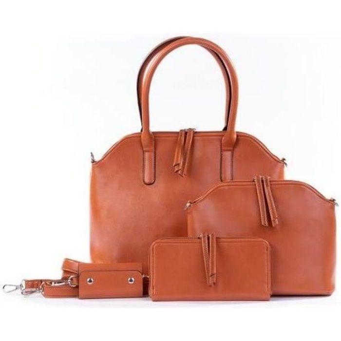 2c95425ad472f Set de 4 Sacs Camel Femme Marron camel - Achat / Vente sac à main ...