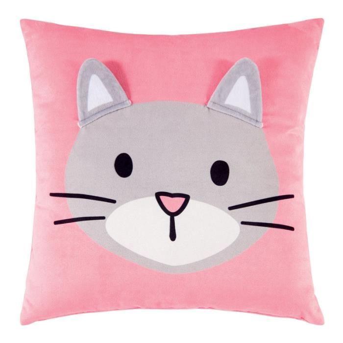 coussins chat pour enfant achat vente coussins chat pour enfant pas cher cdiscount. Black Bedroom Furniture Sets. Home Design Ideas