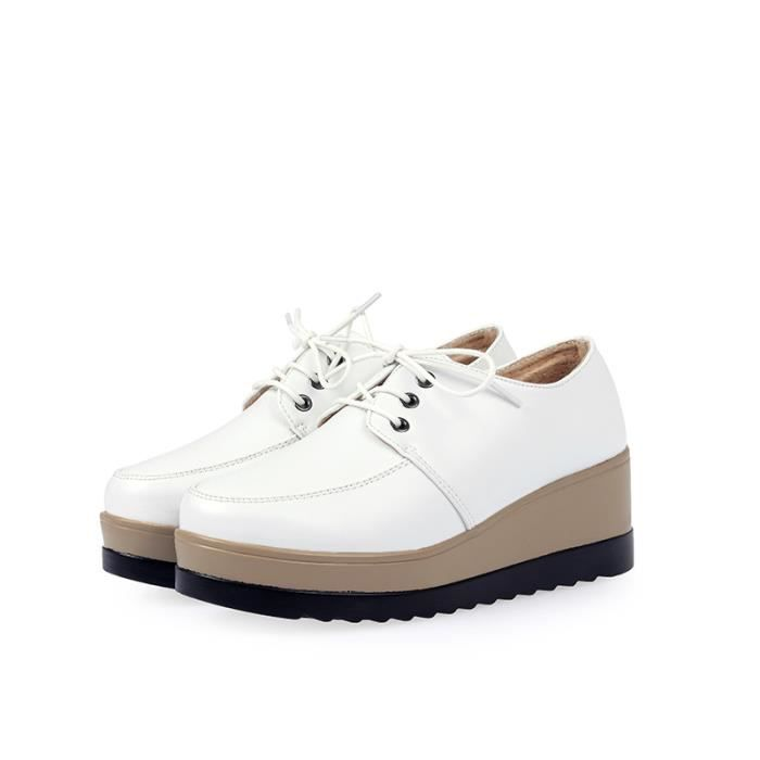 Casual chaussure femme Mode Feminine Baskets à Lacets cAH5NMga