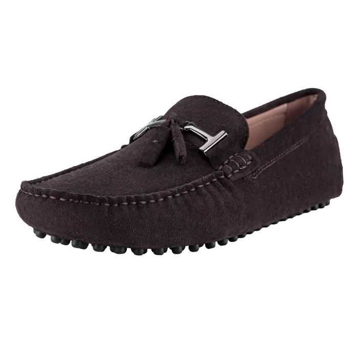 de Slip Taille Mocassins Chaussures Moccasin Suede 44 Casual WALRF on conduite Ausland 7157 x4wnHSqq