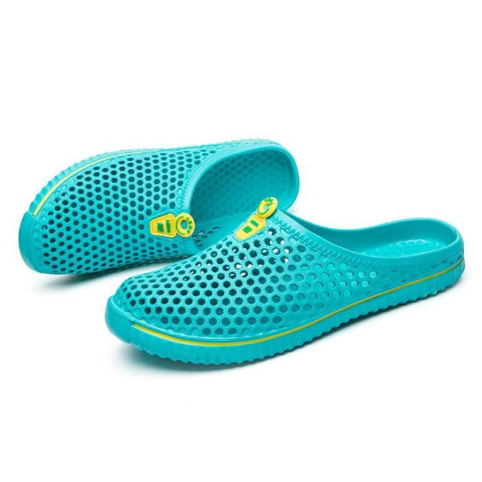 Hommes Chaussures Unisexe Évider Casual Couple Plage Sandale Tongs Chaussures LMH80305555MG Menthe verte