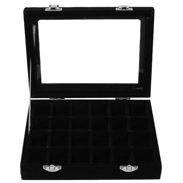 TEMPSA Supports Présentoir Boîte à Bijoux Vitrine Rangement+Miroir ...