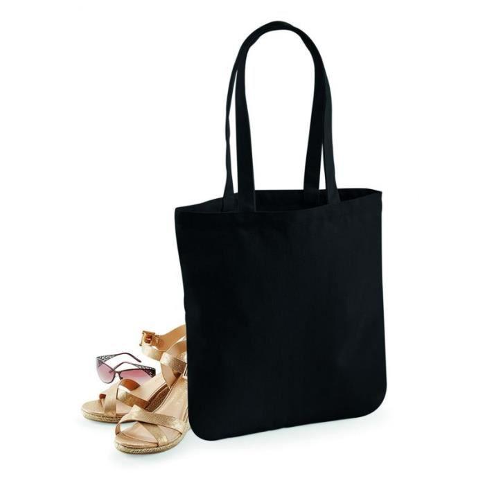 Coton Black Sac Sac Shopping Shopping Bio tftHqzT