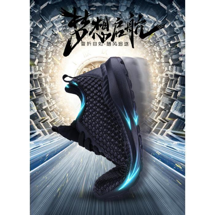 respirant mode course net de Chaussures chaussures d'été des pour chaussures amortisseur chaussures course tissé hommes de de épais 15fqa