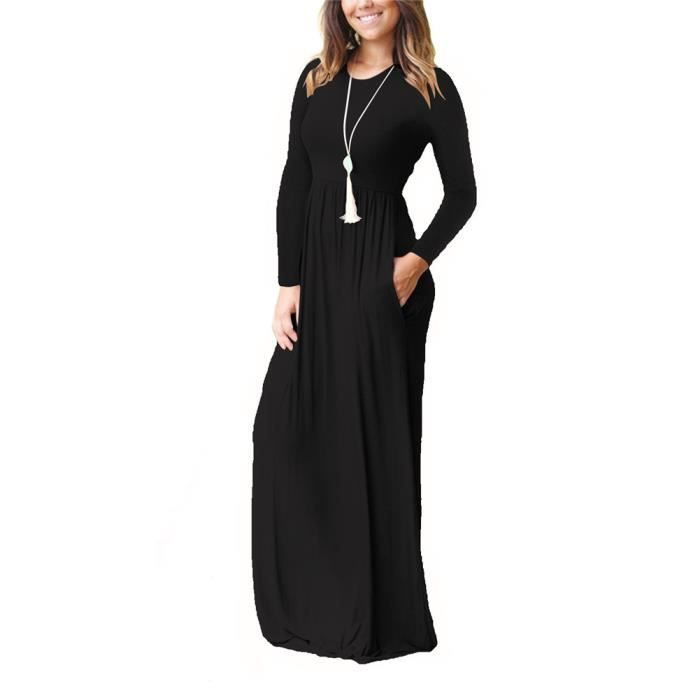 427ccc0ef79 Femmes Robe Médiévale Manche Longue Robe Casual En Coton ...